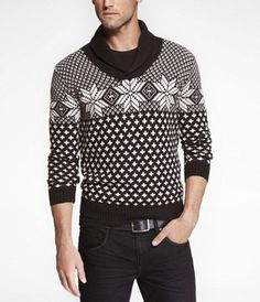 FAIR ISLE SHAWL COLLAR SWEATER at Express....already have this one!:)