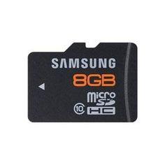 Samsung 8 GB microSDHC Flash Memory Card, Brushed Metal – MB-MP8GA/US