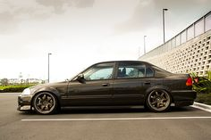EK Sedan - THE Hayce by p_creative, via Flickr A #Slammed #Honda #Civic is a…