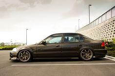 EK Sedan - THE Hayce by p_creative, via Flickr A #Slammed #Honda #Civic is a…