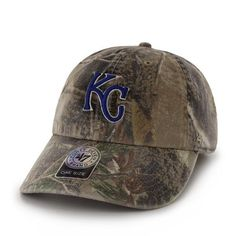 more photos 1b0be 5f2f7 Kansas City Royals 47 Brand Realtree Camo Clean Up Slouch Adjustable Hat Cap