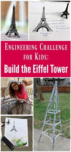 STEM for Kids build the Eiffel Tower Engineer project for school or homeschool France and landmarks Engineering Projects, Stem Projects, School Projects, Projects For Kids, Art Projects, Engineering Challenges, House Projects, School Ideas, Steam Activities