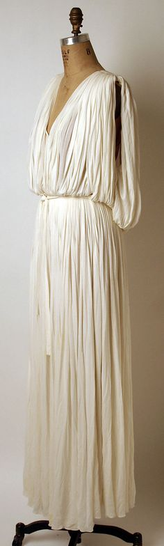 Evening dress Madame Grès (Alix Barton) (French, Paris 1903–1993 Var region) Date: ca. 1965 Culture: French Medium: silk