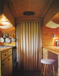 Amazing vintage Airstream remodel, idea for bus interior Airstream Basecamp, Airstream Living, Airstream Campers, Airstream Remodel, Airstream Renovation, Airstream Interior, Vintage Airstream, Vintage Travel Trailers, Remodeled Campers
