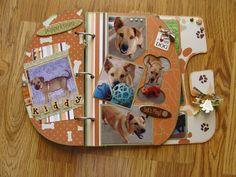 Bobunny Dog Album - Scrapbook.com Dog Scrapbook, Scrapbooking, Papillon Dog, Chipboard, Mini Albums, Layouts, Pets, Projects, Crafts
