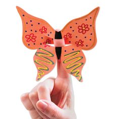Your VBS students will love learning about God's love for all creatures by creating these cute butterfly finger puppets. This die can also be used to create fun decorations throughout the Journey Off The Map 2015 week.
