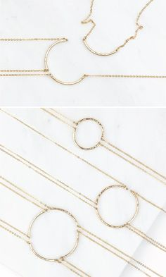 Minimal Friendship Necklaces: Sets of 2, 3 or 4 pieces to share.  Handmade, meaningful jewelry.