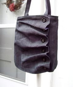 Pleats and Buttons on a bag