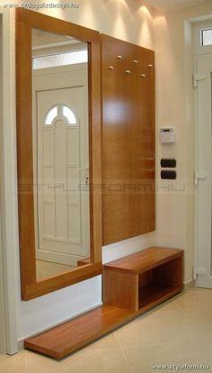 Modern Wood Furniture, Hallway Furniture, Trendy Furniture, Home Decor Furniture, Home Decor Bedroom, Furniture Design, Wardrobe Design Bedroom, Bedroom Cupboard Designs, Home Entrance Decor