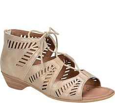 Comfortiva by Softspots Leather Lace-up Sandals- Riley