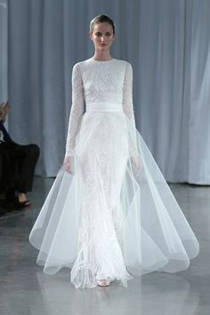 Love The Long Sleeves On This Monique Lhuillier Wedding Dress From Her Fall 2013 Bridal Collection