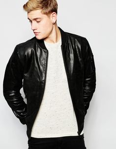 wholesale mid-weight smooth mens black motorcycle leather jacket round neck, View mens black leather jacket, Profound , OEM Product Details from Guangzhou Profound Garment Co., Ltd. on Alibaba.com