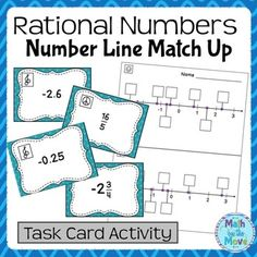 rational number performance task