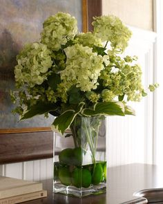 """""""Classic Greens"""" Faux Floral by John-Richard Collection at Neiman Marcus."""