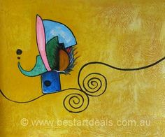 Original Hand-painted Abstract colors paintings by http://bestartdeals.com.au  $74.25
