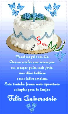Birthday Wishes, Happy Birthday, Cake, Facebook, Gifts, Food, Gifs Lindos, Jeans, Decor