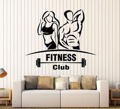 Vinyl Wall Decal Gym Fitness Club Sport Signboard Beautiful Body Stickers Unique Gift (1805ig) Gym Setup, Body Stickers, Pilates Studio, Vinyl Wall Decals, Workout Programs, Gym Workouts, Unique Gifts, Beautiful Body, Gym Fitness