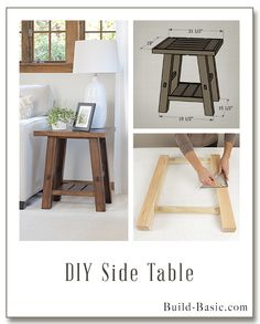 diy living room furniture plans black accessories 25 side table ideas with lots of tutorials my forever house build a building by buildbasic www basic com