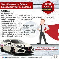 Lowongan Kerja PT. Istana Bandung Raya Motor ( Honda IBRM ) Juli 2018