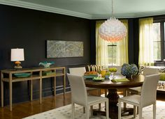 Ceilings are often the Forgotten Fifth Wall in a room. Too often, little thought is given to a ceiling's contribution to the overall room design, which is typically just coated in some ubiquitous white paint. Look at your ceilings from a new perspective. Color, sheen, pattern, and texture on the ceiling can transform the entire look and feel of a room.