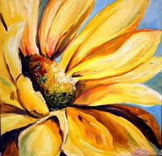 'Texas Sunflower' Flower Oil Painting by Laurie Pace, painting by artist Laurie Justus Pace