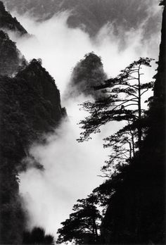 Pines and stones in mist, taken at Heavenly Sea New Path, June 2004, 11 AM Pine forest below Cool Refreshing Terrace, taken at Lion Peak, December 1984, 3 PM Peaks and cloud in valley, taken at the…