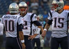 Patriots quarterbacks Tom Brady, Jimmy Garappolo, and Ryan Mallett talk gameplan before Friday's preseason matchup against the Panthers at Gillette Stadium in Foxboro.