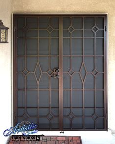 Elegant Iron Clad Security - Wrought Iron Double Security Doors