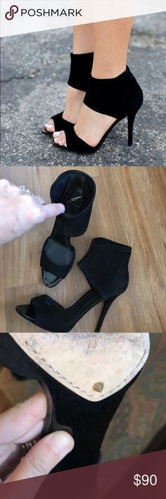 Brian Atwood Correns black Suede heels size 10 Brian Atwood heels in good preowned condition size 10 B Brian Atwood Shoes Heels