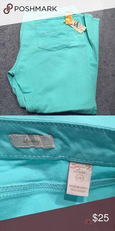 Selling this Brand new!! Seven7 skinny leg Capri plus Size 20W on Poshmark! My username is: breskloset. #shopmycloset #poshmark #fashion #shopping #style #forsale #Seven7 #Pants