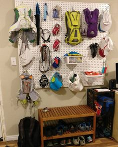 How cool is this running gear station?  Guess we all need one.