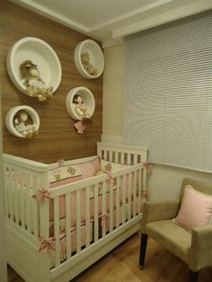 Quato Bebê empreendimento Up Life Pinheirinho / Up Life Pinheirinho Baby bedroom