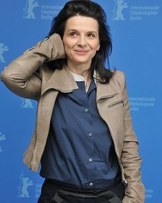 """When Juliette Binoche goes casual she makes me want to throw away my track pants and wear a crisp mens shirt and slacks on the weekend. Fortunately we aren't friends and I don't look at pictures of her that often."""