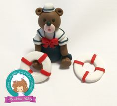 Nautical bear cake topper by My Artisan Bakery