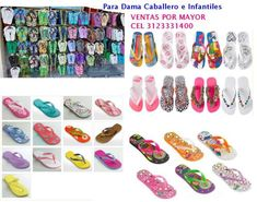 Mayoristas de chanclas, sandalias ventas por mayor 3123331400.