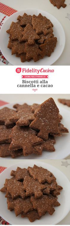 Cinnamon and cocoa biscuits – Pastry Xmas Food, Christmas Desserts, Childrens Meals, Biscotti Cookies, Xmax, Cake & Co, Biscuits, Sweet Cakes, Italian Cake