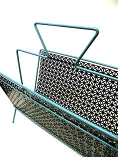 Vintage Magazine Rack Mid Century Turquoise by UncommonRecycables, $56.00