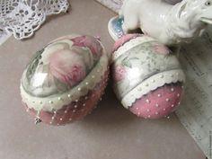 """Купить Яйцо пасхальное """"розы"""" - бледно-розовый, розовый, белый, серый, серебряный, яйцо, розы"""