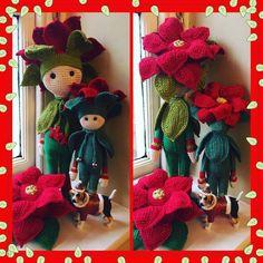 Christmas Star Kris flower doll made by Suzanne B - crochet pattern by Zabbez