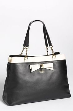 kate spade new york 'hancock park - maryanne' leather bow shopper, large available at #Nordstrom