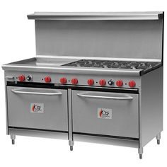 """Cooking Performance Group 60-CPGV-6B-24G-S26 6 Burner Gas Range with 24"""" Griddle and Two 26 1/2"""" Standard Ovens"""