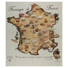 Cheeses of France, by Corner #map #france #cheese