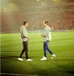 Liam and Niall on the field