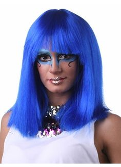 Egyptian Inspired Hair Style Straight Full Bang Wigs