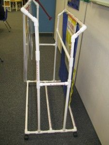 Awesome flip chart stand made from PVC Pipe! Project for Aaron!