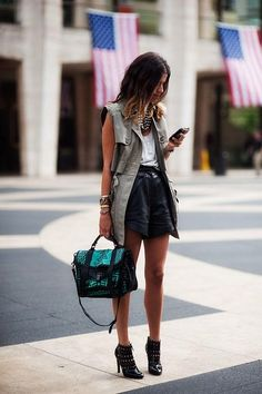 green and black bag