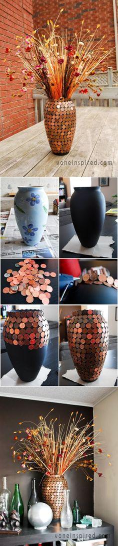 Tips para mujeres: Jarrón hecho de monedas antiguas