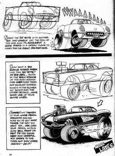 Resultado de imagem para george trosley How To Draw Cars cartoon Cartoon Car Drawing, Cartoon Art, Cars Cartoon, Cool Car Drawings, Colorful Drawings, Ed Roth Art, Cartoons Magazine, Bell Art, Cartoon Books