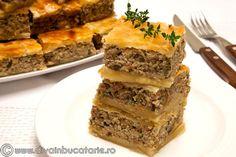 placinta-cu-carne-si-ciuperci Puff Pastry Recipes, Sandwiches, Pie, Desserts, Food, Christmas, Phyllo Dough Recipes, Torte, Tailgate Desserts