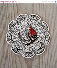 ONE SALE Turkish ceramic cup coaster, small trivet. golden horn